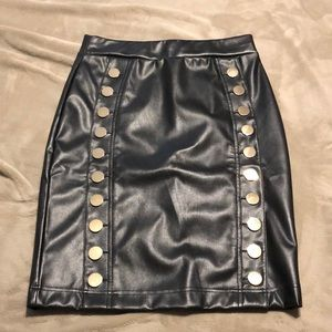 INC leather skirt
